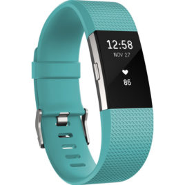 Fitbit Charge 2 Teal/Silver – L