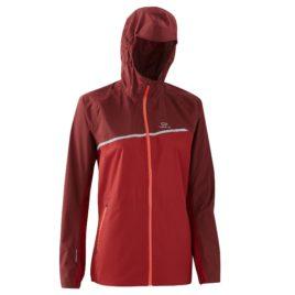 Kalenji Dames regenjack voor traillopen bordeaux – 36 – XS